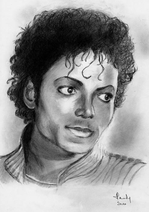 Portrait of michael jackson by claireff1 on stars portraits - Coloriage michael jackson ...